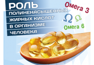 Роль поліненасичених жирних кислот в організмі людини.